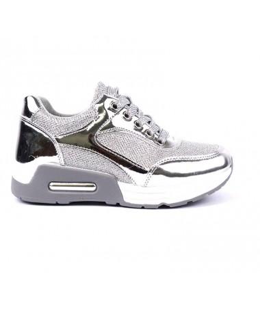 Pantofi Sport De Dama Modelatore Argintii - Trendmall.ro