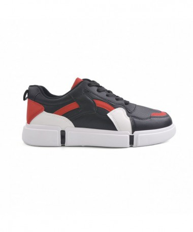 Pantofi Sport De Barbati Negru Cu Rosu Kilo - Trendmall.ro