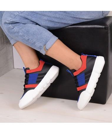 Pantofi Sport De Dama Elian Negru Cu Albastru - Trendmall.ro