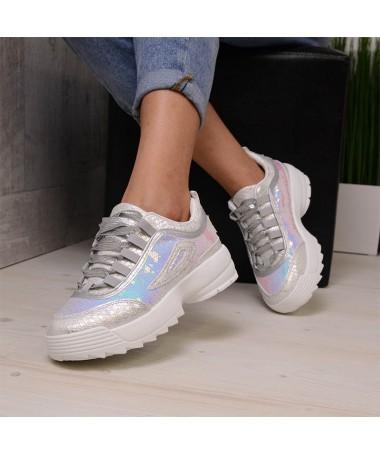 Pantofi Sport De Dama Argintii Saper - Trendmall.ro