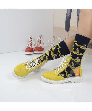 Pantofi Sport De Dama Transparency Galbeni - Trendmall.ro