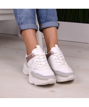 Pantofi Sport De Dama Albi Flop - Trendmall.ro