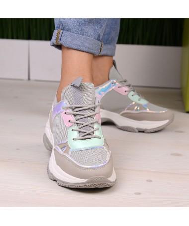 Pantofi Sport De Dama Nower Gri - Trendmall.ro