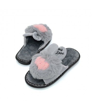 Papuci De Dama Rabbit Gri - Trendmall.ro