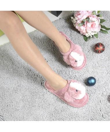 Papuci De Dama Panda Piersica - Trendmall.ro