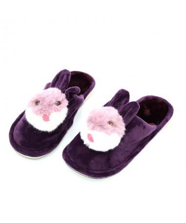 Papuci De Dama Bunny Mov - Trendmall.ro