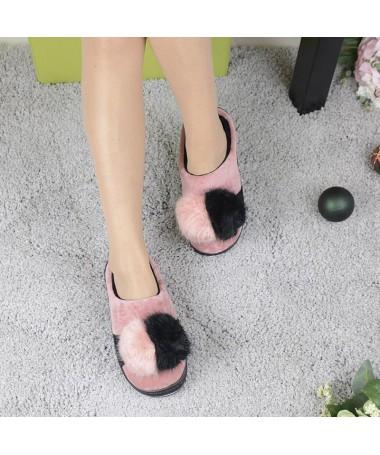 Papuci De Dama Clew Piersica - Trendmall.ro