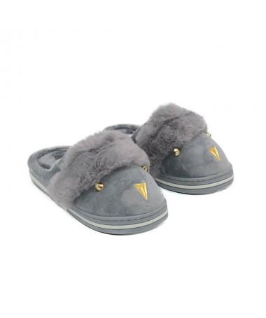 Papuci De Dama Peacky Gri - Trendmall.ro