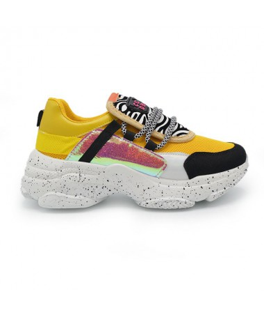 Pantofi Sport De Dama Ccdb Galbeni - Trendmall.ro
